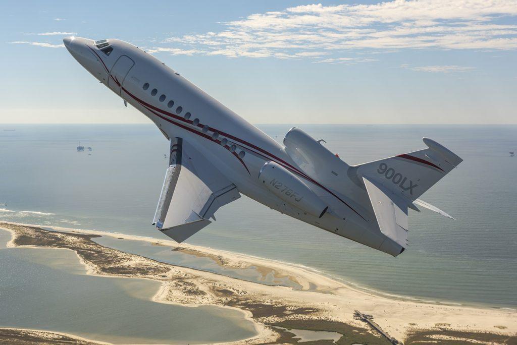 Falcon 900LX как всегда - на высоте