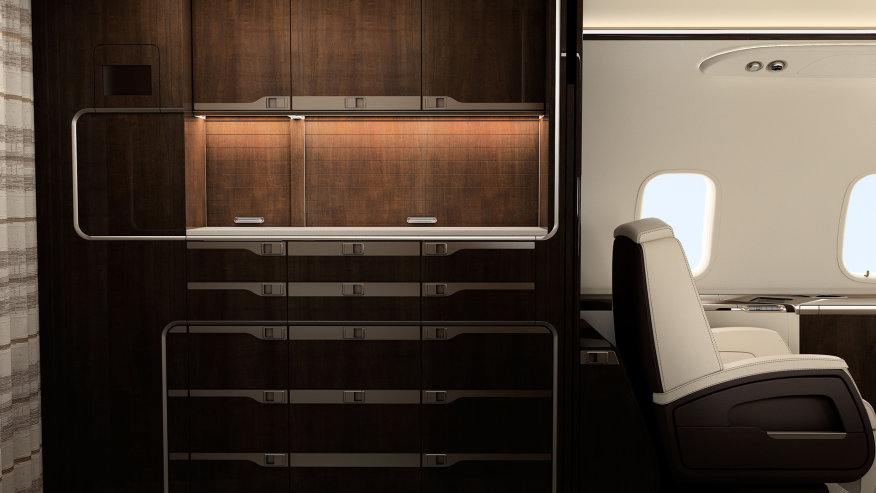 Challenger 350 кухня - полеты с компанией PrivateJetBooking тел.+74957773809