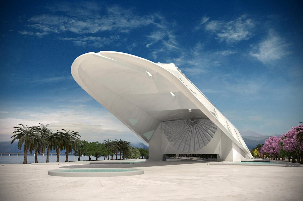 В музее завтрашнего дня эффектно соединились архитектурная концепция с необычным инженерным решением.