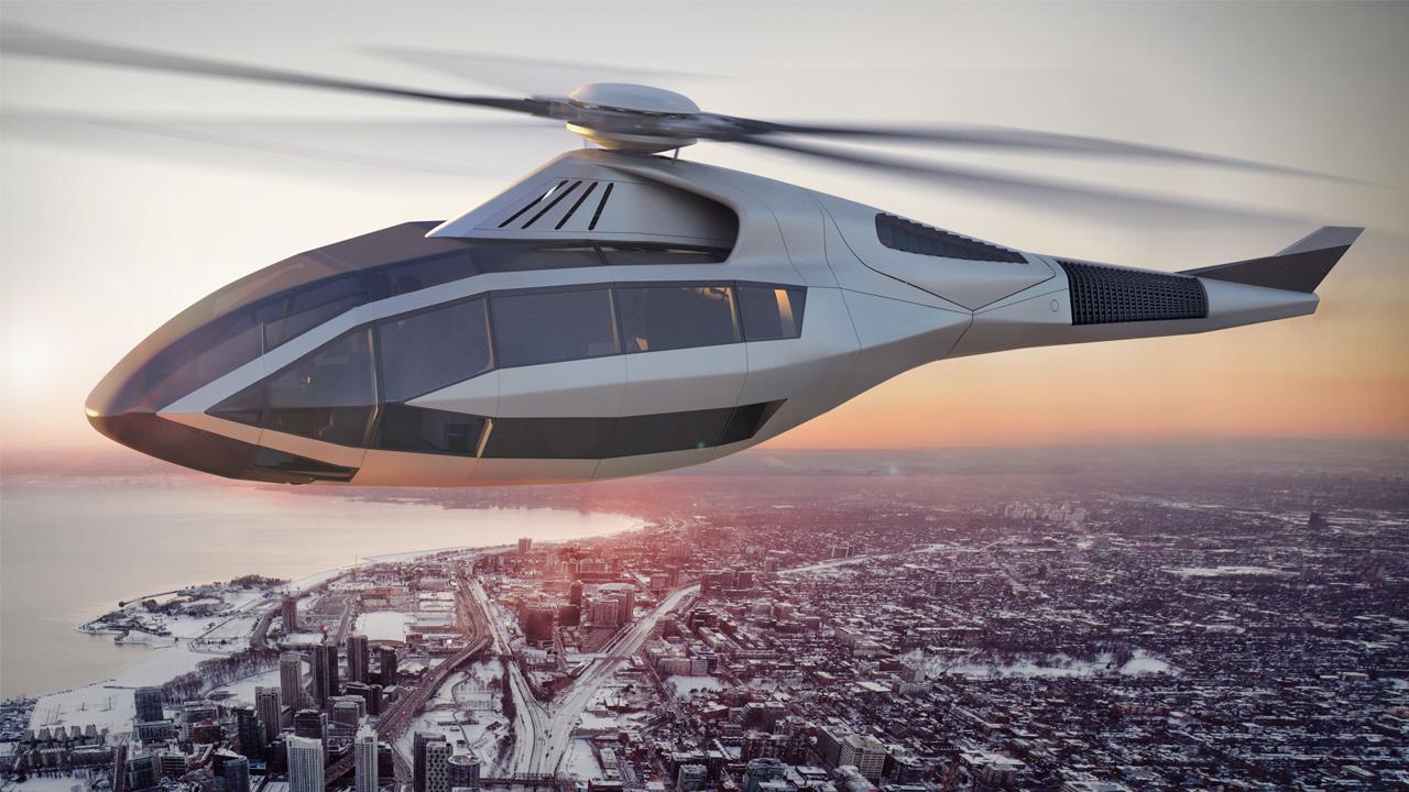 Bell FCX-001 Concept Helicopter - может и в таком виде будет выглядеть такси